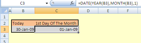 1st-day-of-the-month-excel