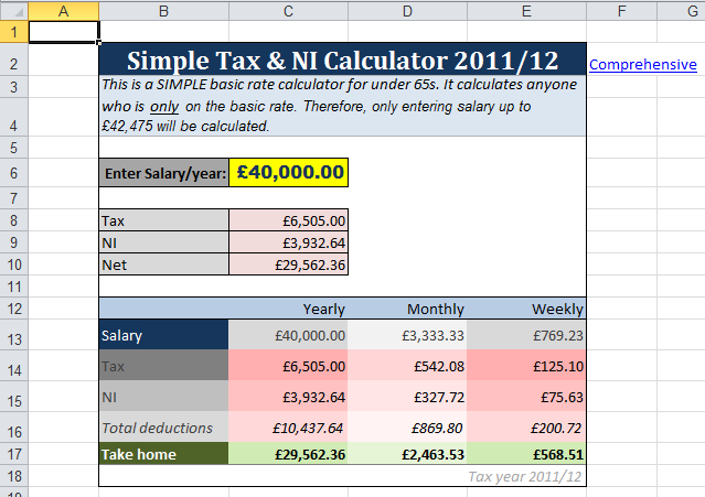 Simple Tax Calc