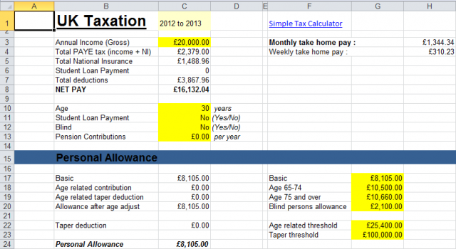 Comprehensive Tax Calc