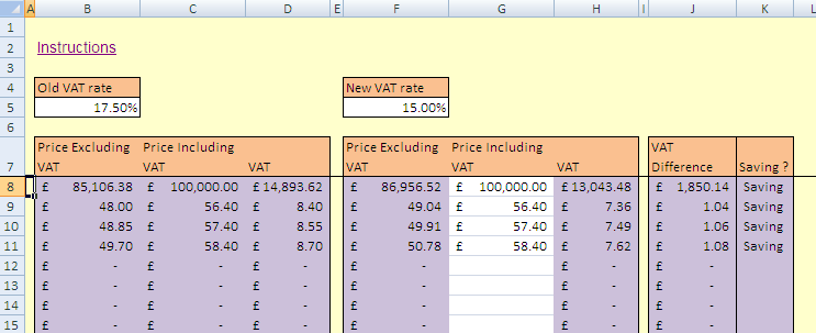 Calculate VAT