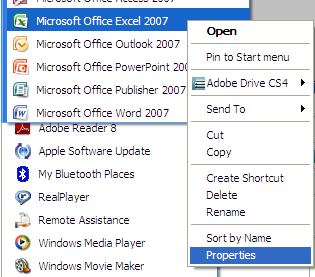 keyboard-shortcut-to-open-excel